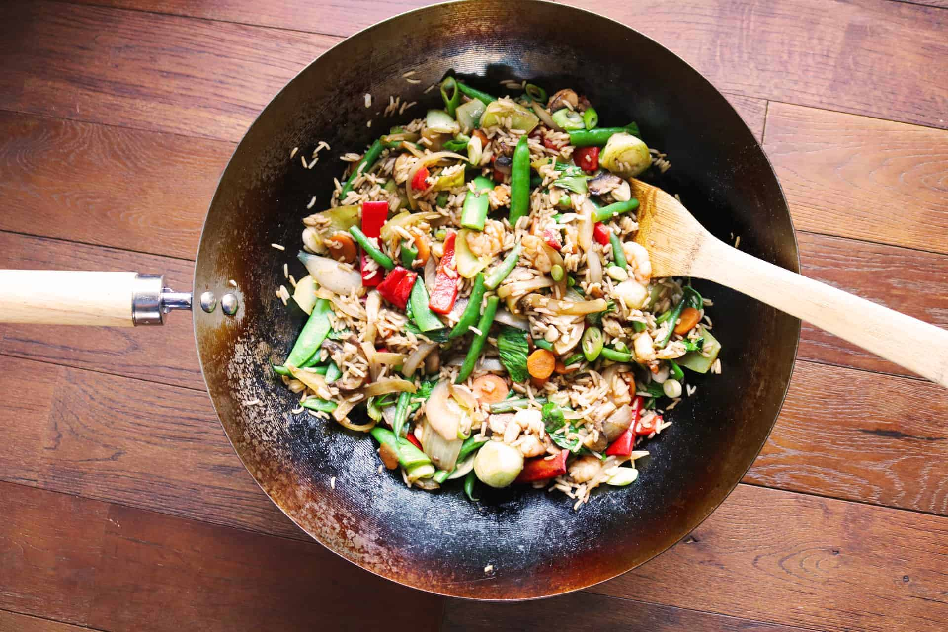 Prawn and Vegetable Fried Rice, Prawn and Vegetable Fried Rice