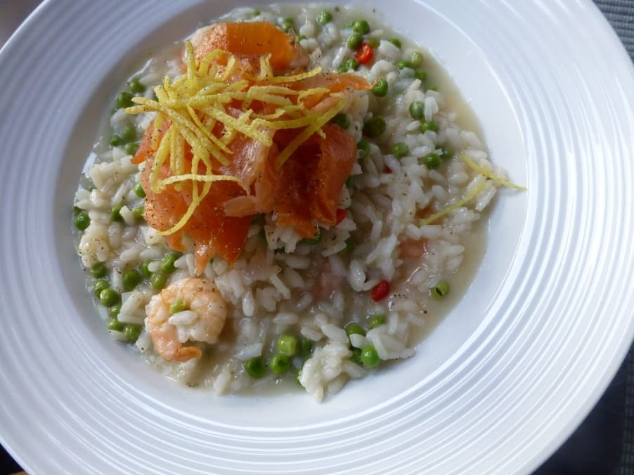 Smoked Salmon and Prawn Risotto, Smoked Salmon and Prawn Risotto