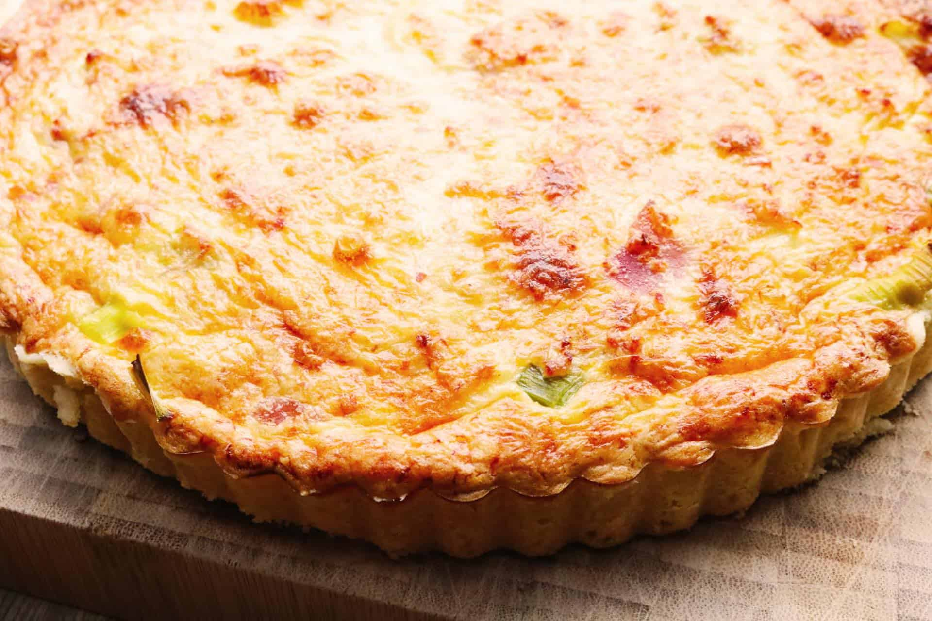, Ham and Leek Quiche
