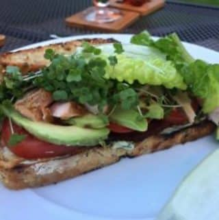 Hot Smoked Salmon Club Sandwich, Hot Smoked Salmon Club Sandwich