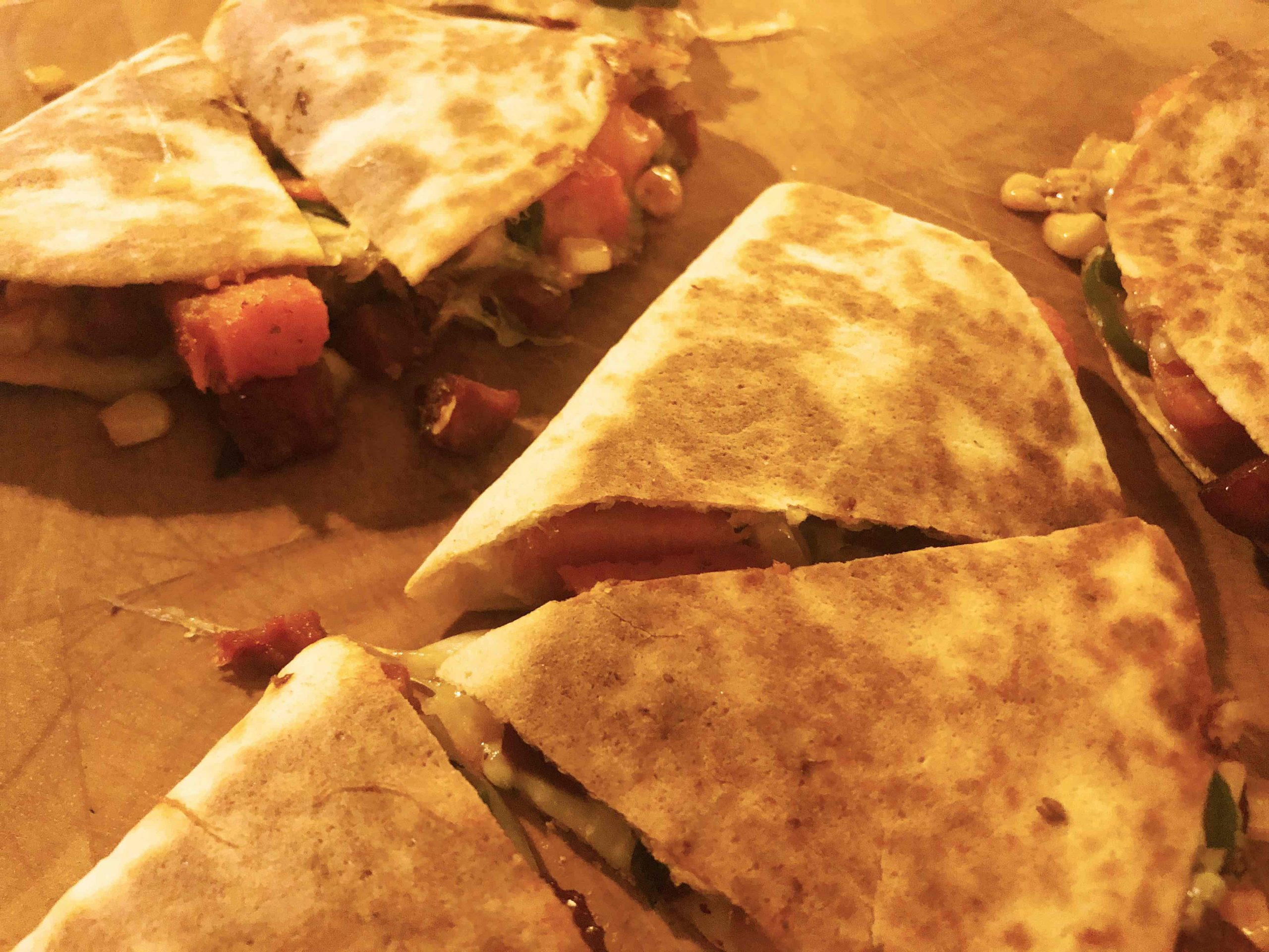 Quesadillas with Sweet Potatoes, Chorizo and Sweetcorn...plus Pico de Gallo Salsa, Quesadillas with Sweet Potatoes, Chorizo and Sweetcorn…plus Pico de Gallo Salsa