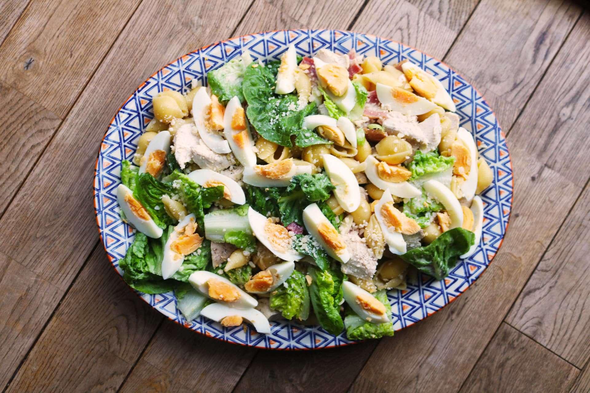 Chicken Caesar Pasta Salad (Thermomix), Chicken Caesar Pasta Salad (Thermomix)