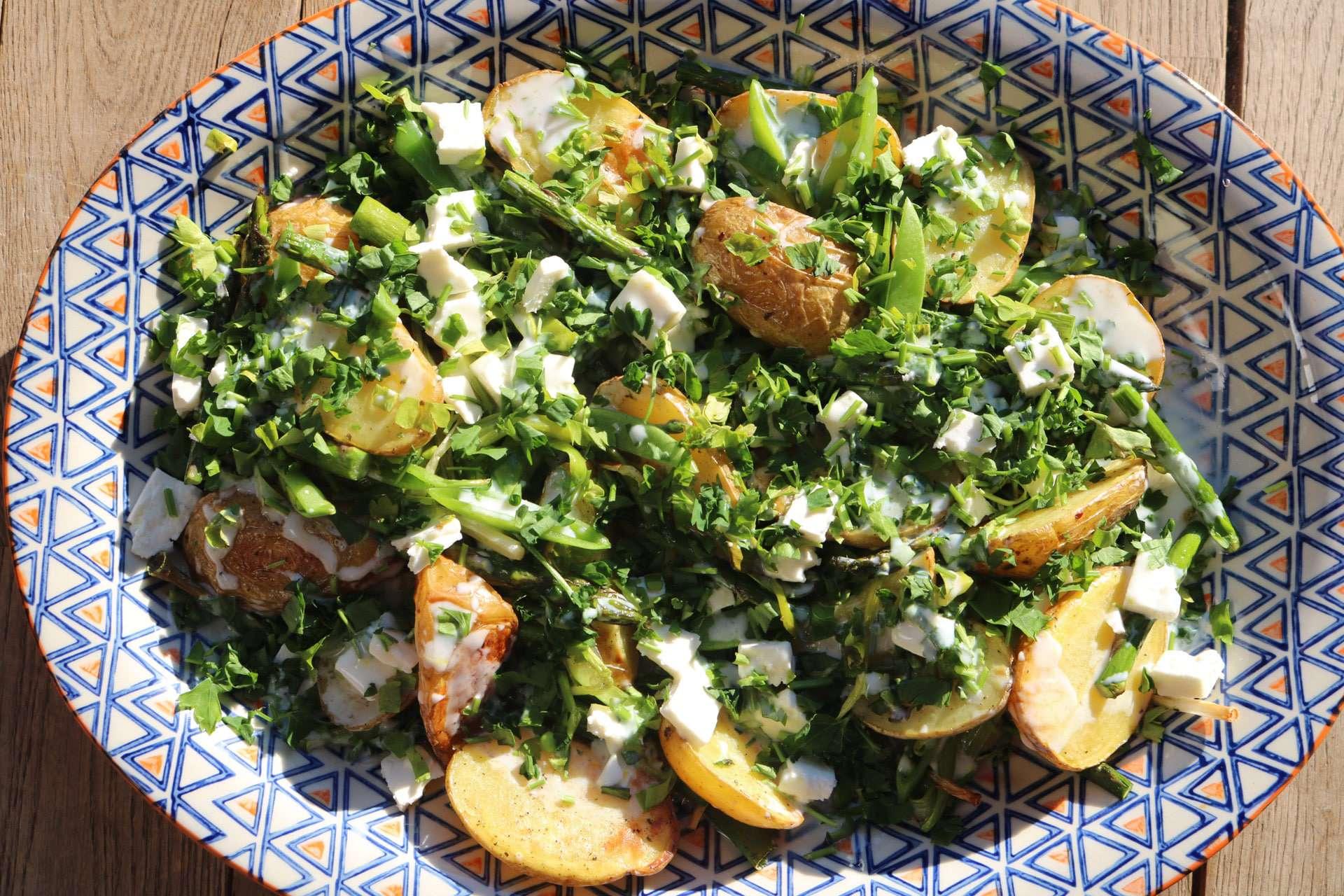 Spring Potato Salad, Spring Potato Salad