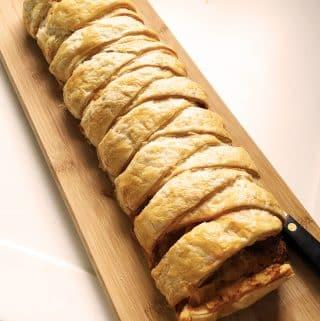 Spanish-flavoured Sausagemeat Plait (Thermomix), Spanish-flavoured Sausagemeat Plait (Thermomix)