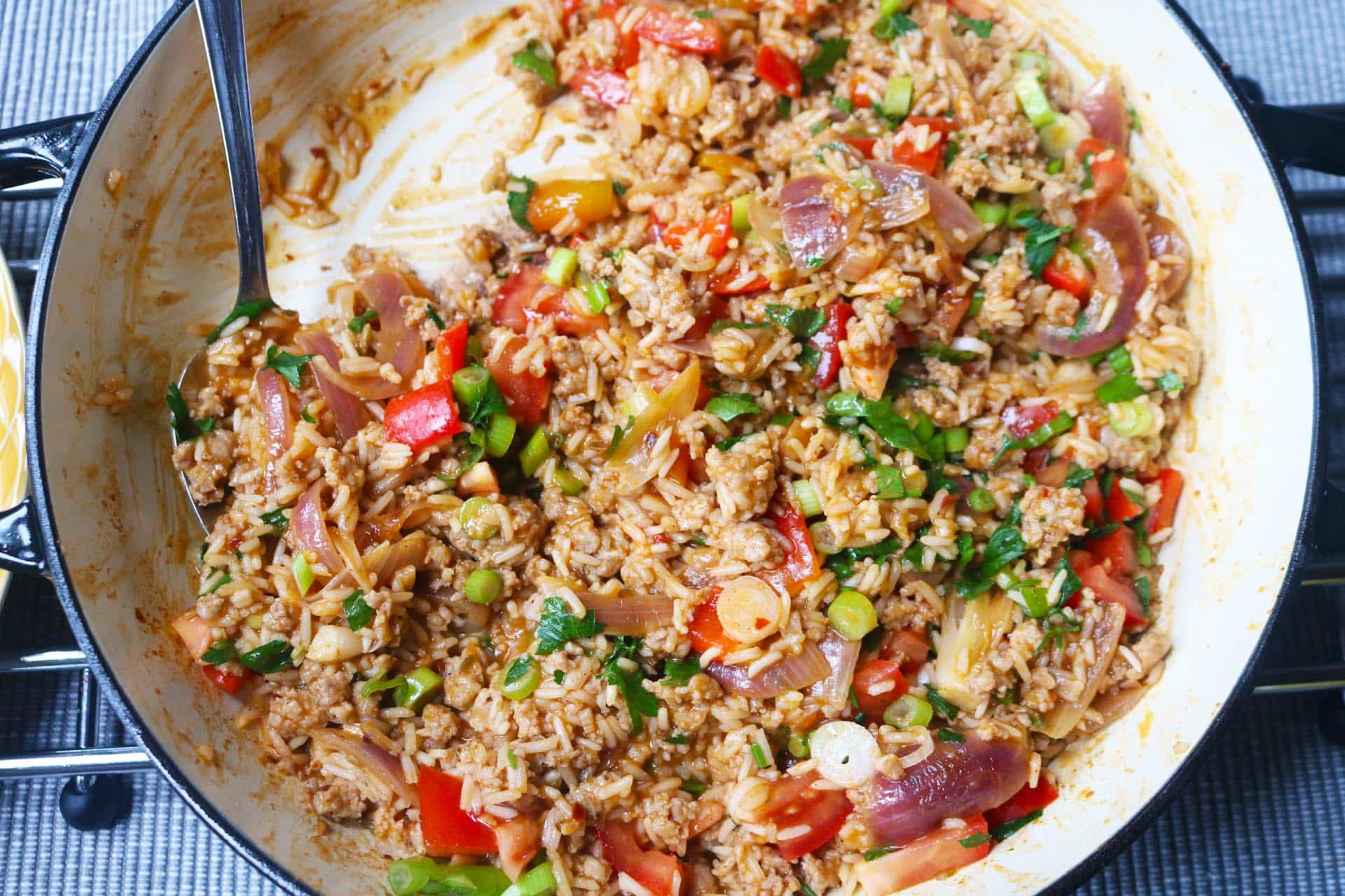 Spicy Sausage Rice, Spicy Sausage Rice