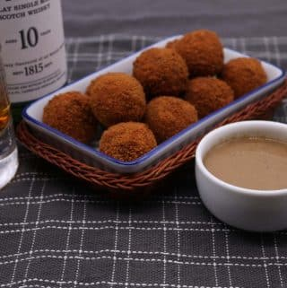 Haggis Balls with Whisky Sauce, Haggis Balls with Whisky Sauce