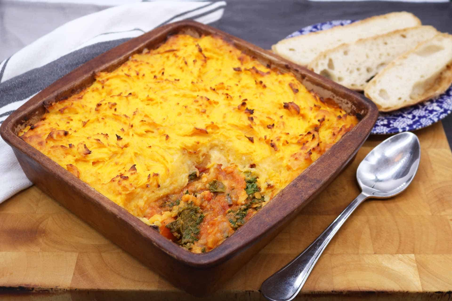 Vegetable and Lentil Cottage Pie, Vegetable and Lentil Cottage Pie