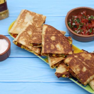 Quesadillas with Sweet Potatoes, Chorizo and Sweetcorn...plus Pico de Gallo Salsa, Quesadillas with Sweet Potatoes, Chorizo and Sweetcorn...plus Pico de Gallo Salsa