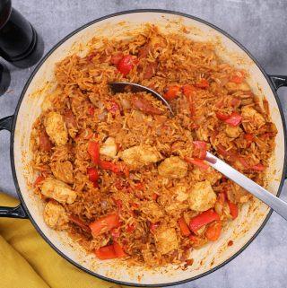 Chicken and Chorizo Jambalaya, Chicken and Chorizo Jambalaya