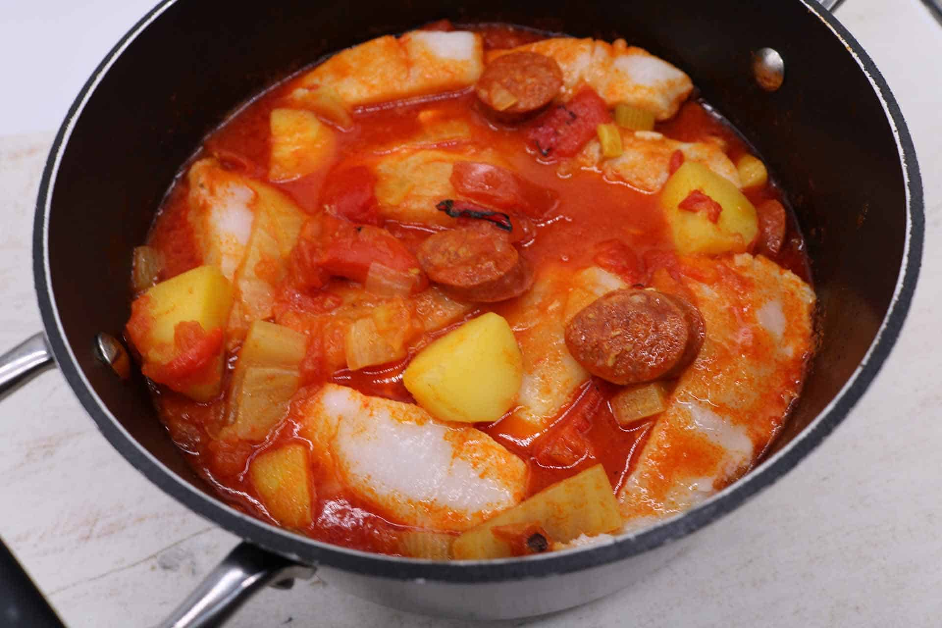 Cod and Chorizo Stew, Cod and Chorizo Stew