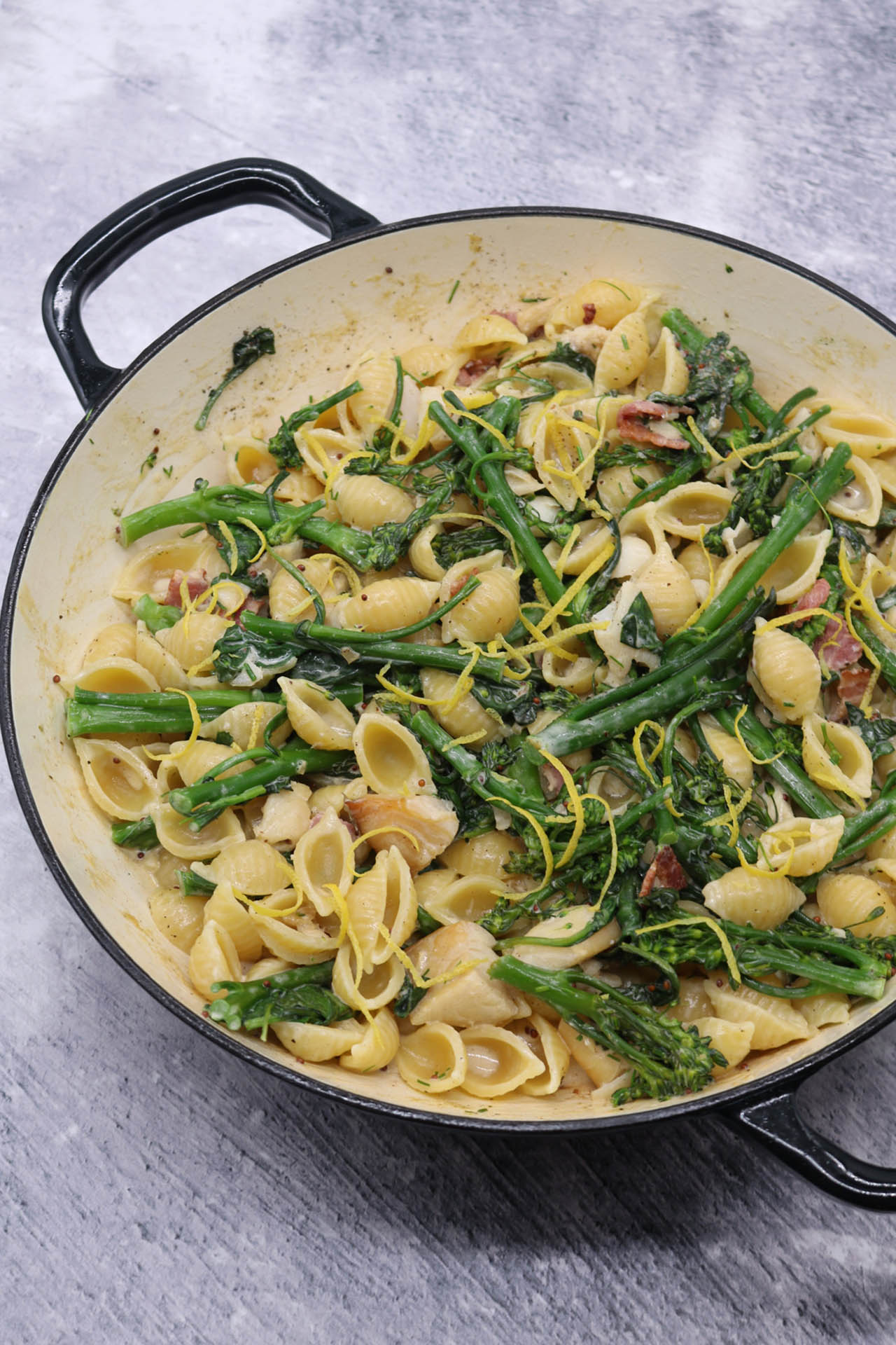 Smoked Haddock with Tenderstem Broccoli, Spinach and Conchiglie, Smoked Haddock with Tenderstem Broccoli, Spinach and Conchiglie