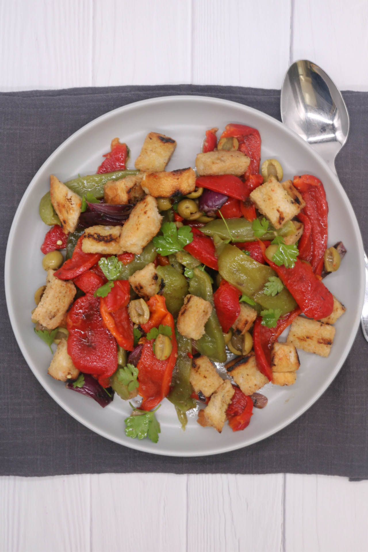 Barbecued Mixed Pepper Salad, Barbecued Mixed Pepper Salad