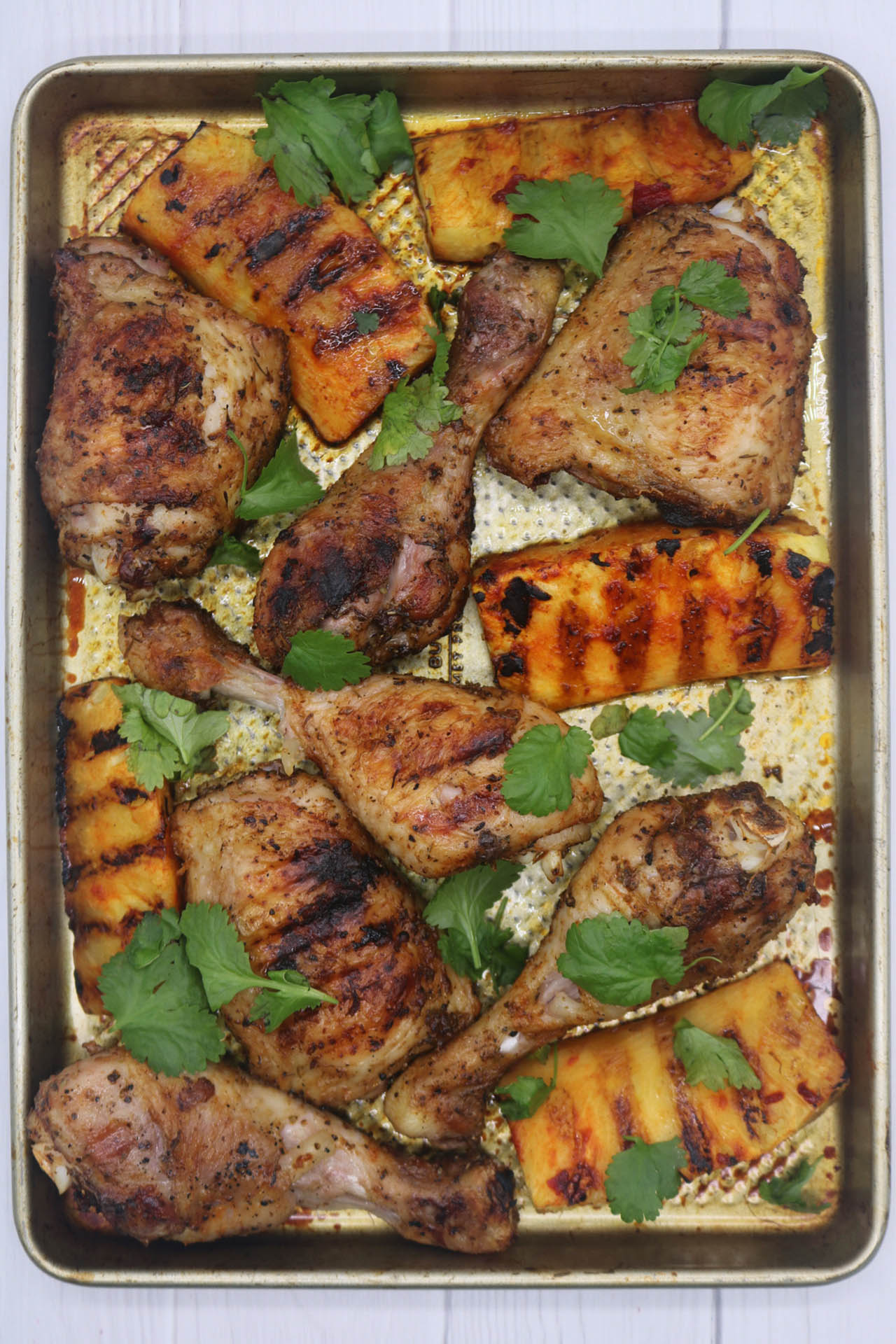 Cajun Chicken with Charred Pineapple Wedges, Cajun Chicken with Charred Pineapple Wedges