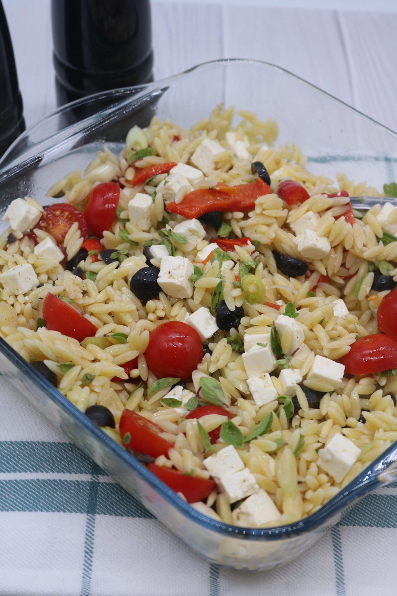 Orzo Salad with Feta, Orzo Salad with Feta