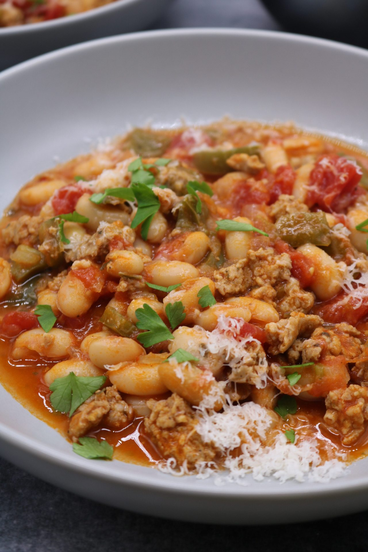 Spicy Italian Sausage and Beans, Spicy Italian Sausage and Beans