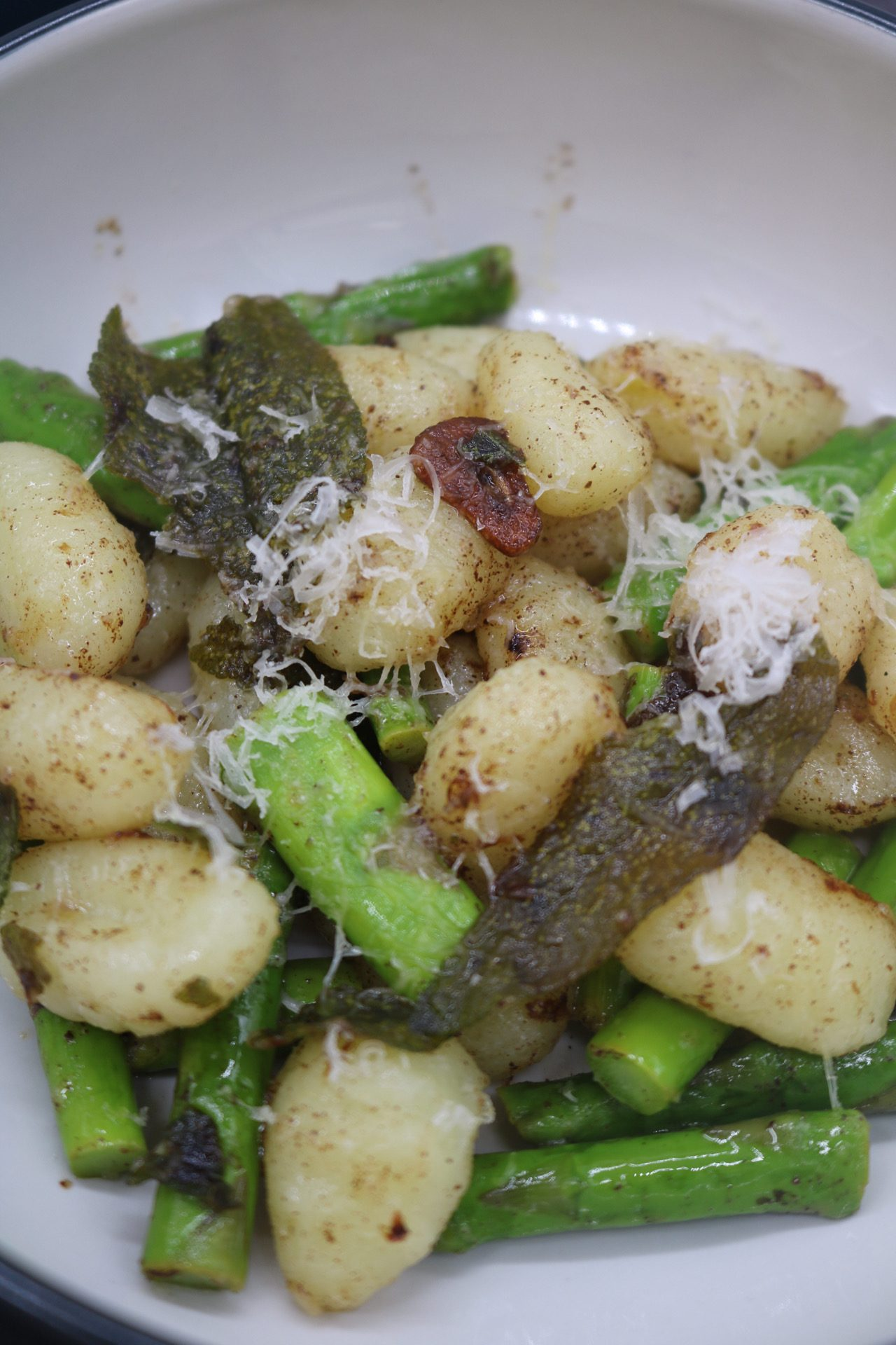 Gnocchi and Asparagus with Sage and Lemon Butter, Gnocchi and Asparagus with Sage and Lemon Butter