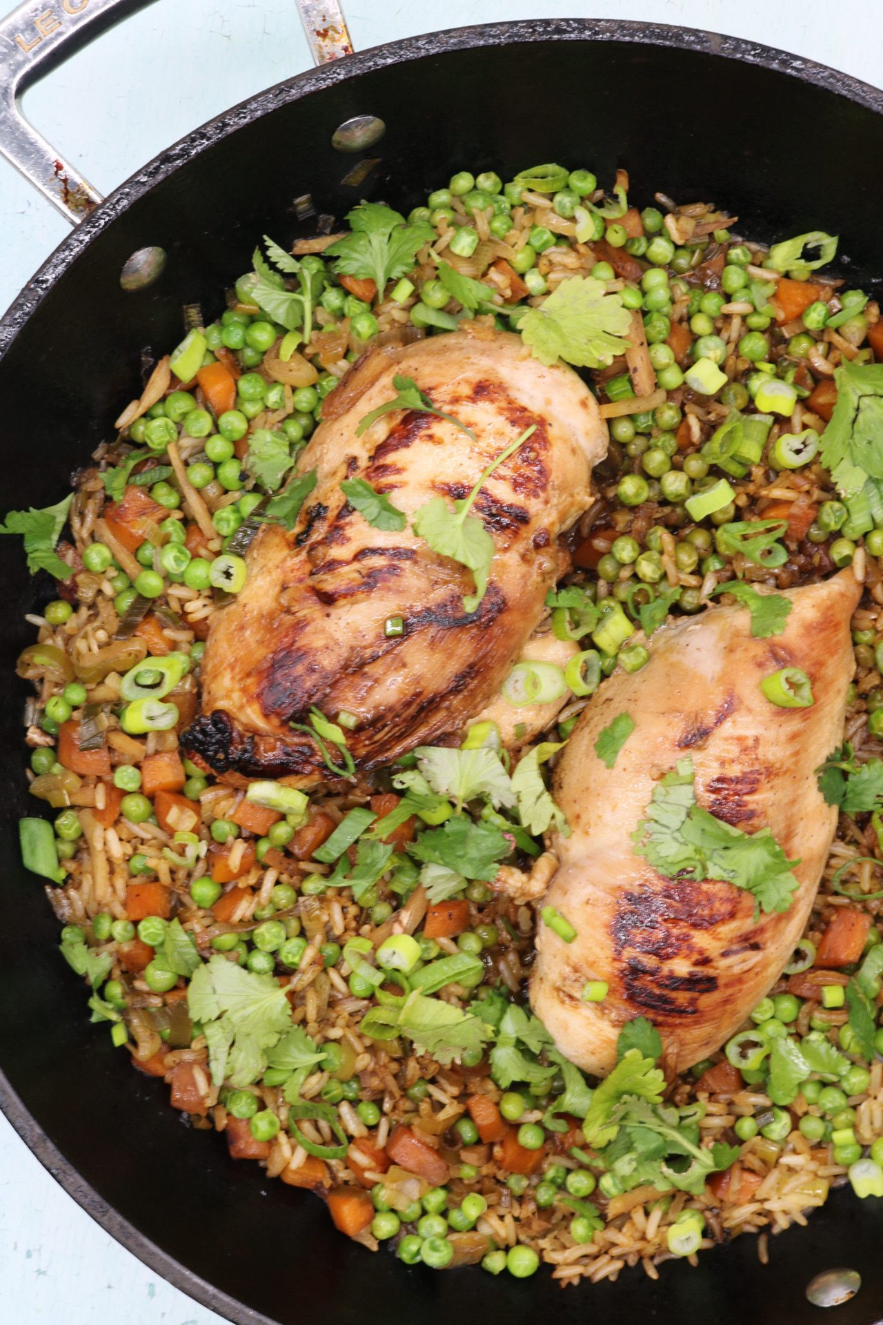 One Pan Hoisin Chicken and Rice, One Pan Hoisin Chicken and Rice