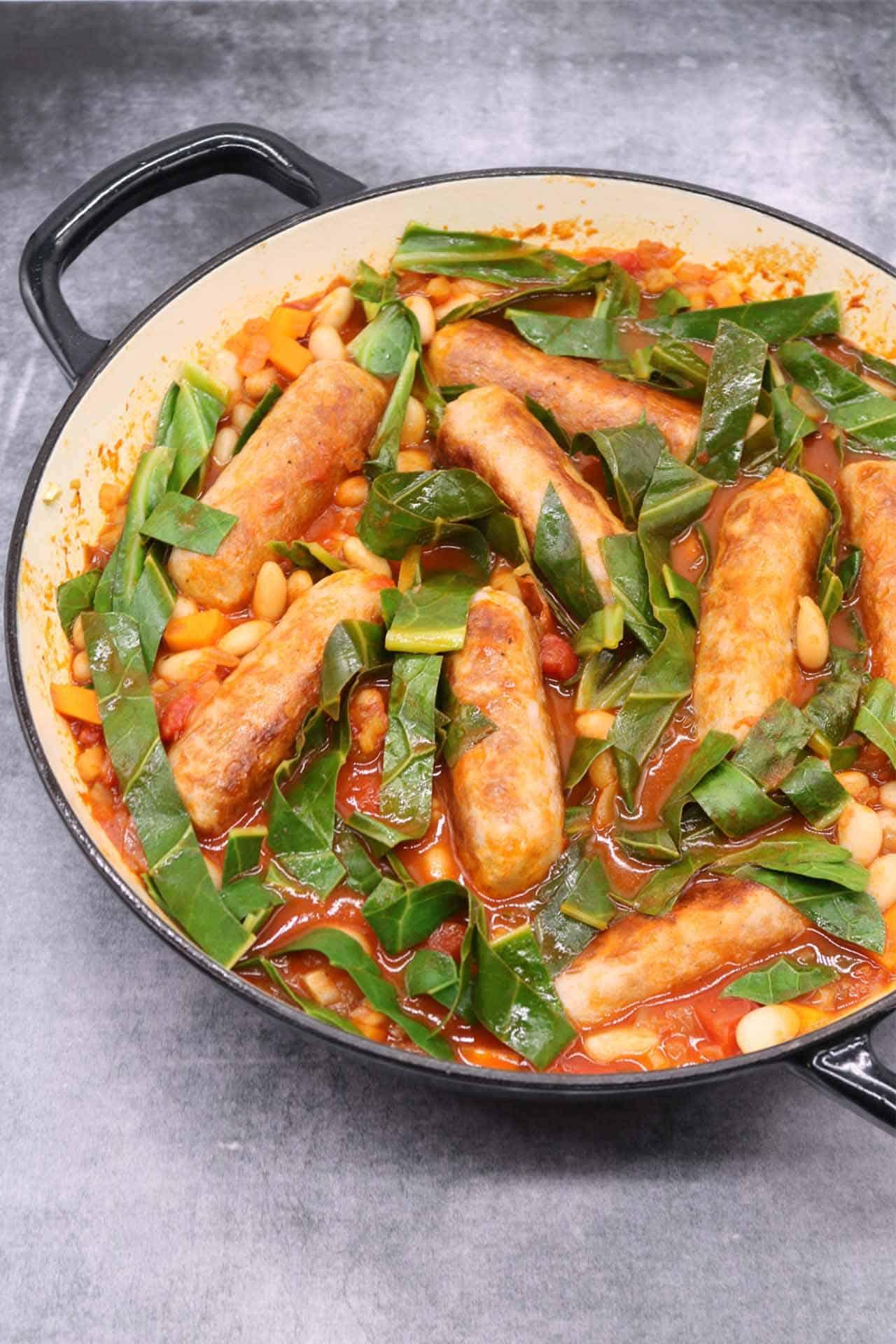 Sausage and Cannellini Bean Casserole, Sausage and Cannellini Bean Casserole